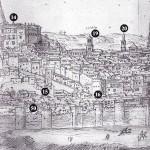 Detalle Vista de Toledo, Wyngaerde 1563. Tramo del 15 al 16.