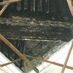 Techumbre antes de la primera restauración